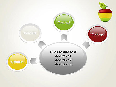 Multi Colored Apple PowerPoint Template Slide 7