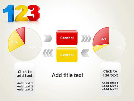 Numbers 123 PowerPoint Template Slide 11