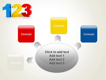 Numbers 123 PowerPoint Template Slide 7