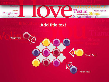 Declaration of Love in Different Languages PowerPoint Template Slide 10