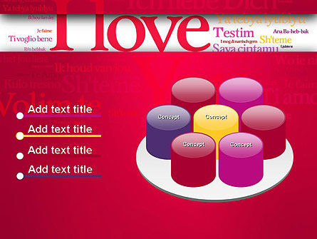 Declaration of Love in Different Languages PowerPoint Template Slide 12