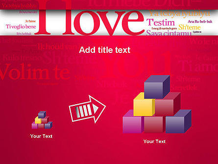 Declaration of Love in Different Languages PowerPoint Template Slide 13