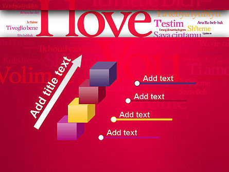 Declaration of Love in Different Languages PowerPoint Template Slide 14