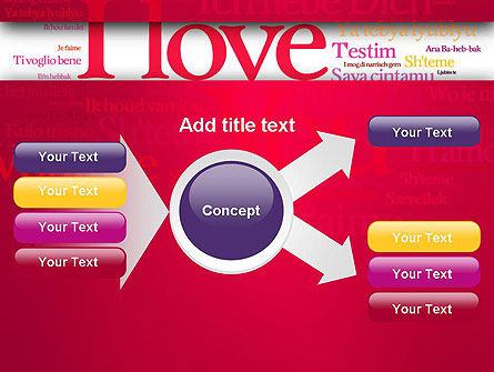 Declaration of Love in Different Languages PowerPoint Template Slide 15