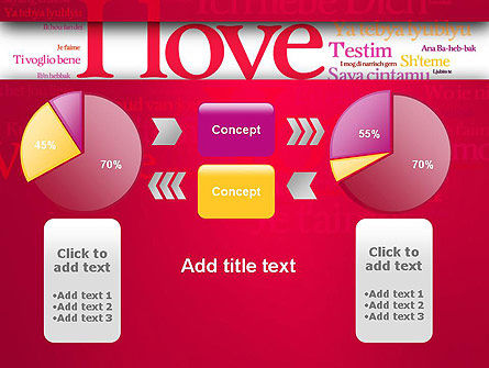 Declaration of Love in Different Languages PowerPoint Template Slide 16