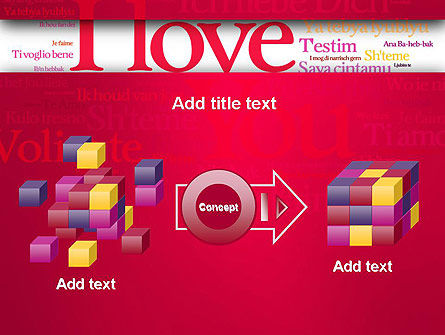 Declaration of Love in Different Languages PowerPoint Template Slide 17