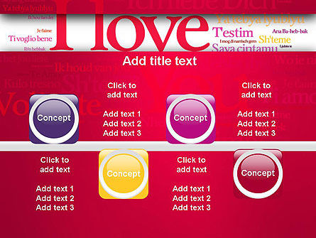 Declaration of Love in Different Languages PowerPoint Template Slide 18