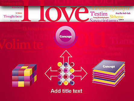 Declaration of Love in Different Languages PowerPoint Template Slide 19