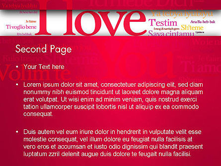 Declaration of Love in Different Languages PowerPoint Template, Slide 2, 13425, Holiday/Special Occasion — PoweredTemplate.com