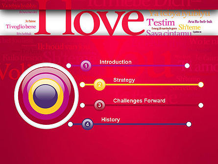 Declaration of Love in Different Languages PowerPoint Template, Slide 3, 13425, Holiday/Special Occasion — PoweredTemplate.com