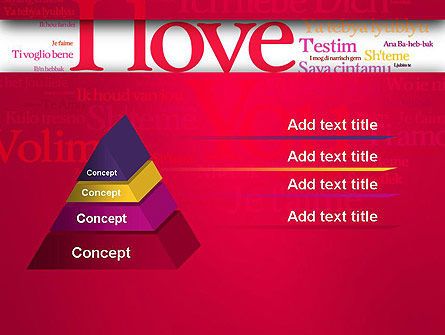 Declaration of Love in Different Languages PowerPoint Template, Slide 4, 13425, Holiday/Special Occasion — PoweredTemplate.com