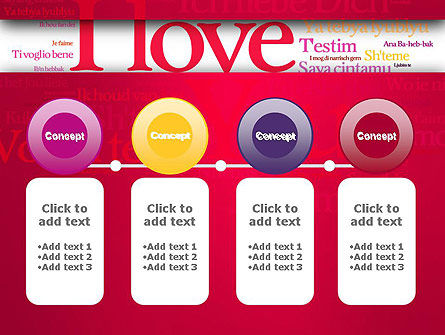 Declaration of Love in Different Languages PowerPoint Template Slide 5