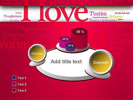 Declaration of Love in Different Languages PowerPoint Template Slide 6