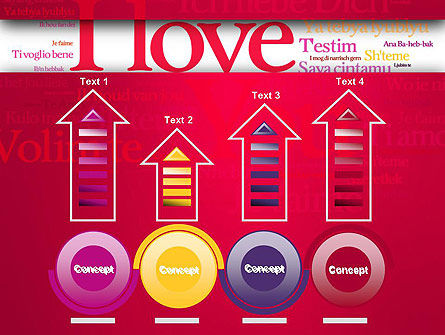 Declaration of Love in Different Languages PowerPoint Template Slide 7