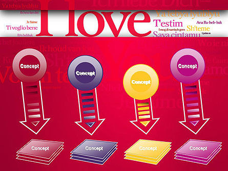 Declaration of Love in Different Languages PowerPoint Template Slide 8