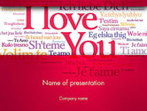 Holiday/Special Occasion: Declaration of Love in Different Languages PowerPoint Template #13425