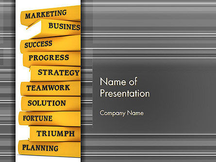 Education & Training: Business Books PowerPoint Template #13427