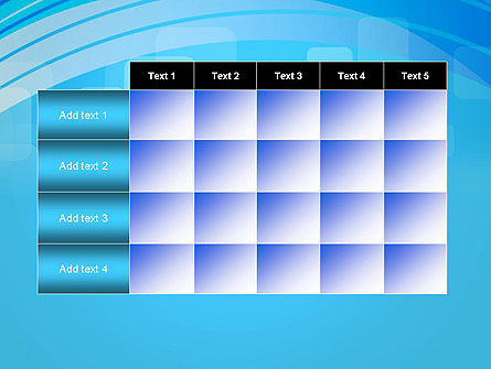 Blue Wave with Transparent Squares Abstract PowerPoint Template Slide 15