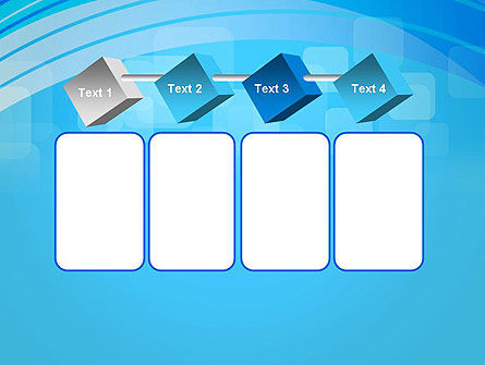Blue Wave with Transparent Squares Abstract PowerPoint Template Slide 18