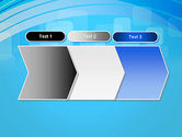 Blue Wave with Transparent Squares Abstract PowerPoint Template#16