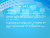 Blue Wave with Transparent Squares Abstract PowerPoint Template#2