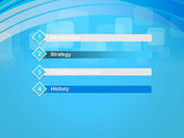 Blue Wave with Transparent Squares Abstract PowerPoint Template#3