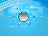 Blue Wave with Transparent Squares Abstract PowerPoint Template#7