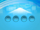 Blue Wave with Transparent Squares Abstract PowerPoint Template#8