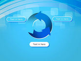 Blue Wave with Transparent Squares Abstract PowerPoint Template#9