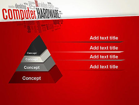 Computer Hardware Word Cloud PowerPoint Template Slide 12