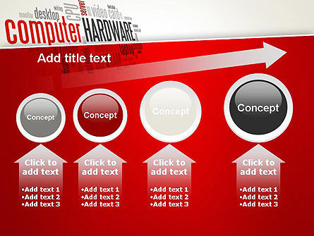 Computer Hardware Word Cloud PowerPoint Template Slide 13
