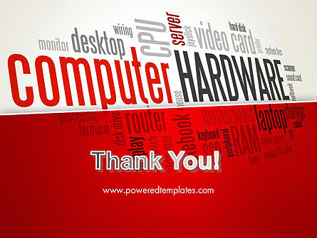 Computer Hardware Word Cloud PowerPoint Template Slide 20