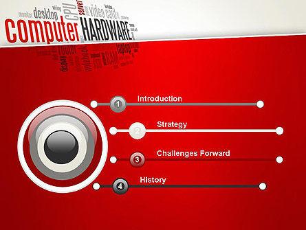Computer Hardware Word Cloud PowerPoint Template, Slide 3, 13429, Computers — PoweredTemplate.com