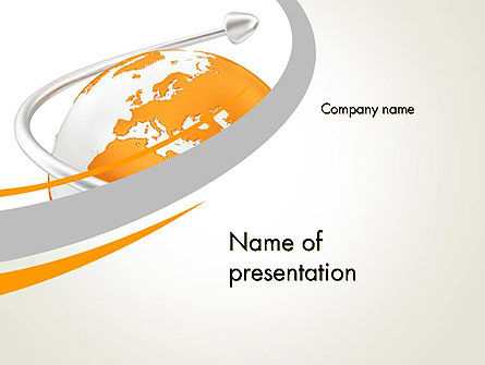 Global: Orange Landen PowerPoint Template #13430