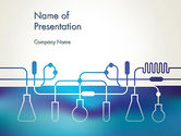 Technology and Science: Laboratory Equipment Silhouettes PowerPoint Template #13431