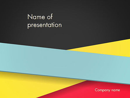 Abstract Intersecting Stripes PowerPoint Template