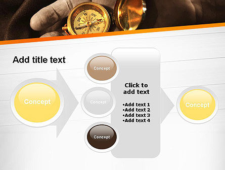 Orienteering Compass PowerPoint Template Slide 17