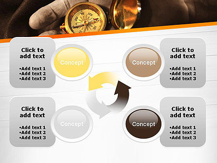Orienteering Compass PowerPoint Template Slide 9