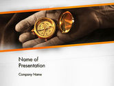 Business Concepts: Orienteering Compass PowerPoint Template #13434