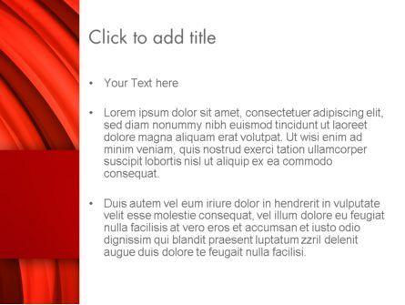 Undulating PowerPoint Template, Slide 3, 13435, Abstract/Textures — PoweredTemplate.com