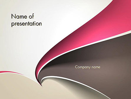 Abstract/Textures: Abstract Fan Shape PowerPoint Template #13439