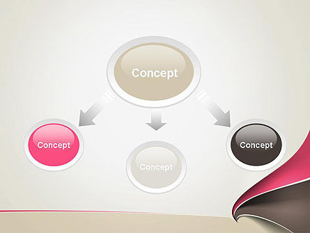 Abstract Fan Shape PowerPoint Template Slide 4