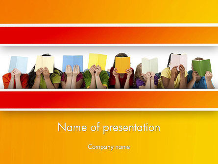 Education & Training: Story Time with Kids PowerPoint Template #13441