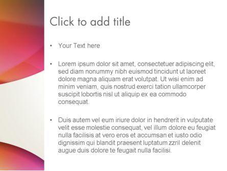 Orange Green Gradient Abstract PowerPoint Template, Slide 3, 13443, Abstract/Textures — PoweredTemplate.com