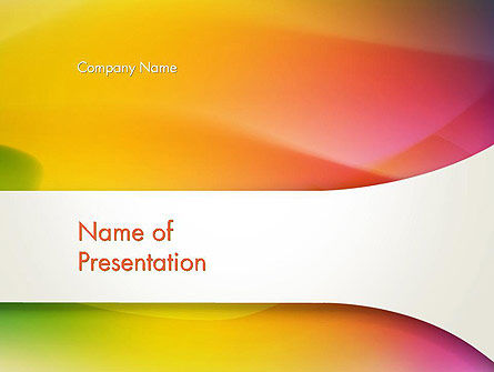 Abstract/Textures: Orange Green Gradient Abstract PowerPoint Template #13443