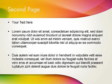 Orange Green Gradient Abstract PowerPoint Template Slide 2
