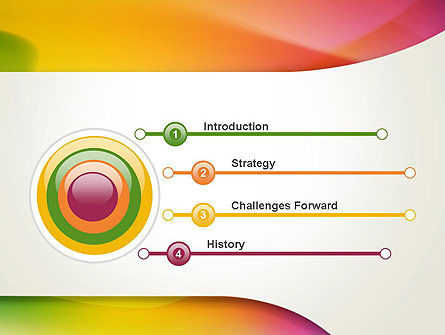 Orange Green Gradient Abstract PowerPoint Template Slide 3
