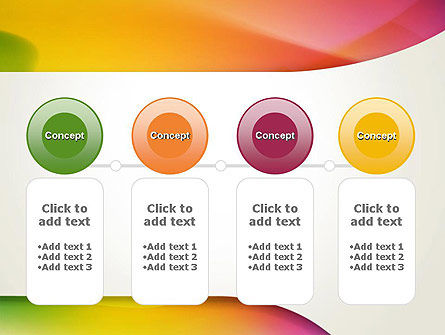 Orange Green Gradient Abstract PowerPoint Template Slide 5