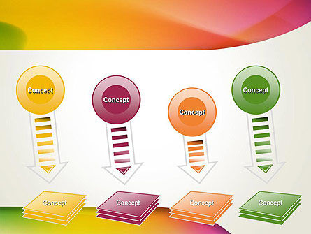 Orange Green Gradient Abstract PowerPoint Template Slide 8