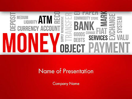 Money Word Cloud PowerPoint Template